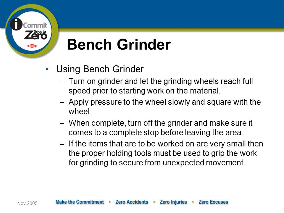 Bench Grinder Using Bench Grinder