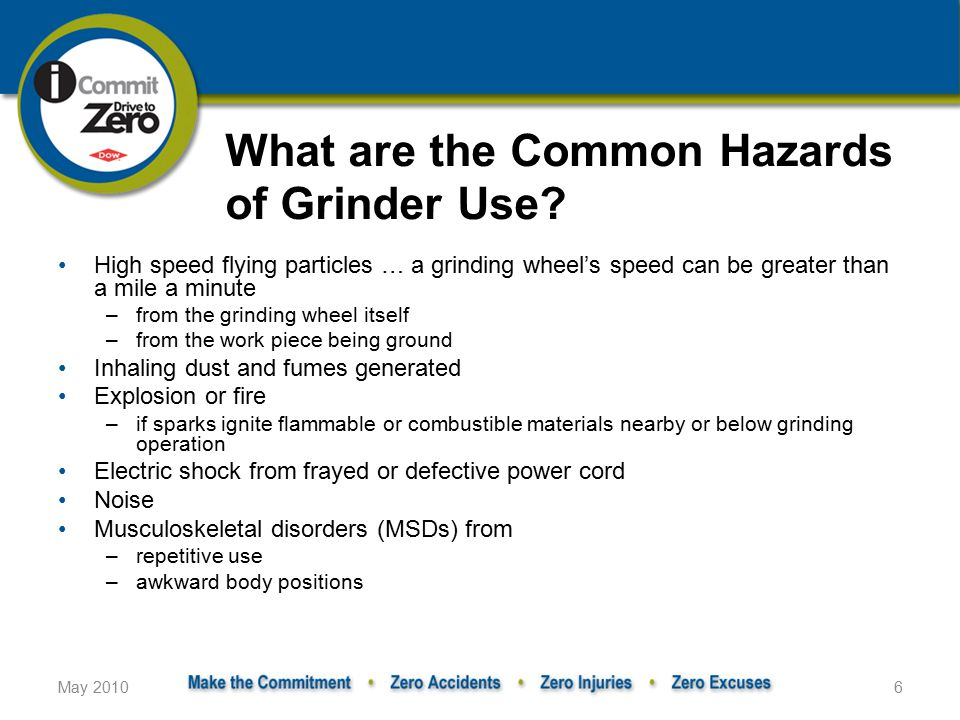 What are the Common Hazards of Grinder Use