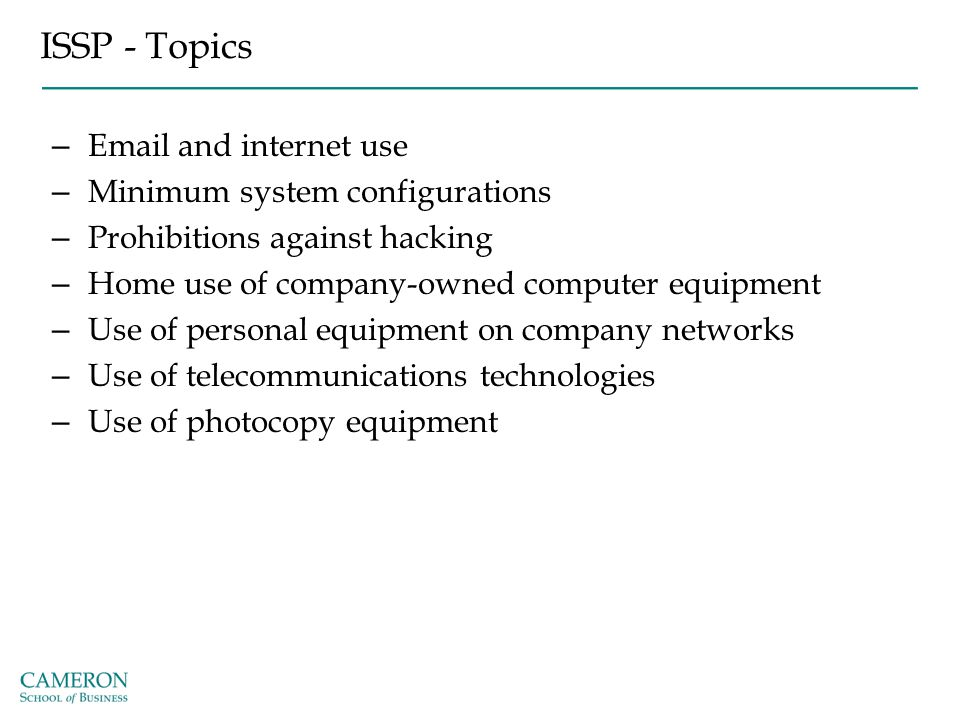 ISSP - Topics Email and internet use Minimum system configurations