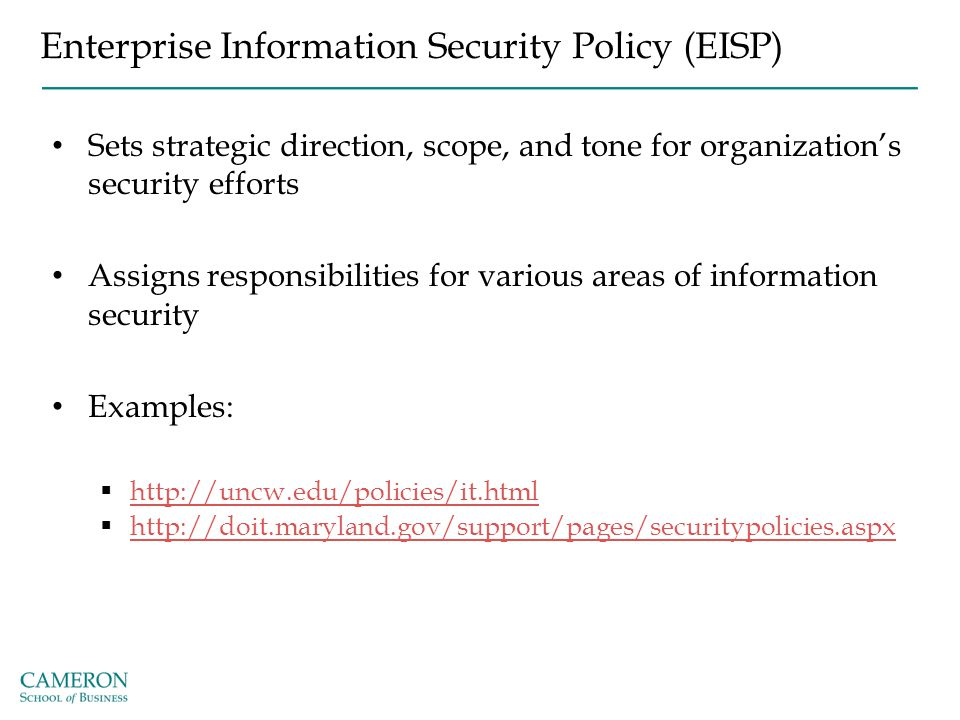 enterprise information security policy pdf