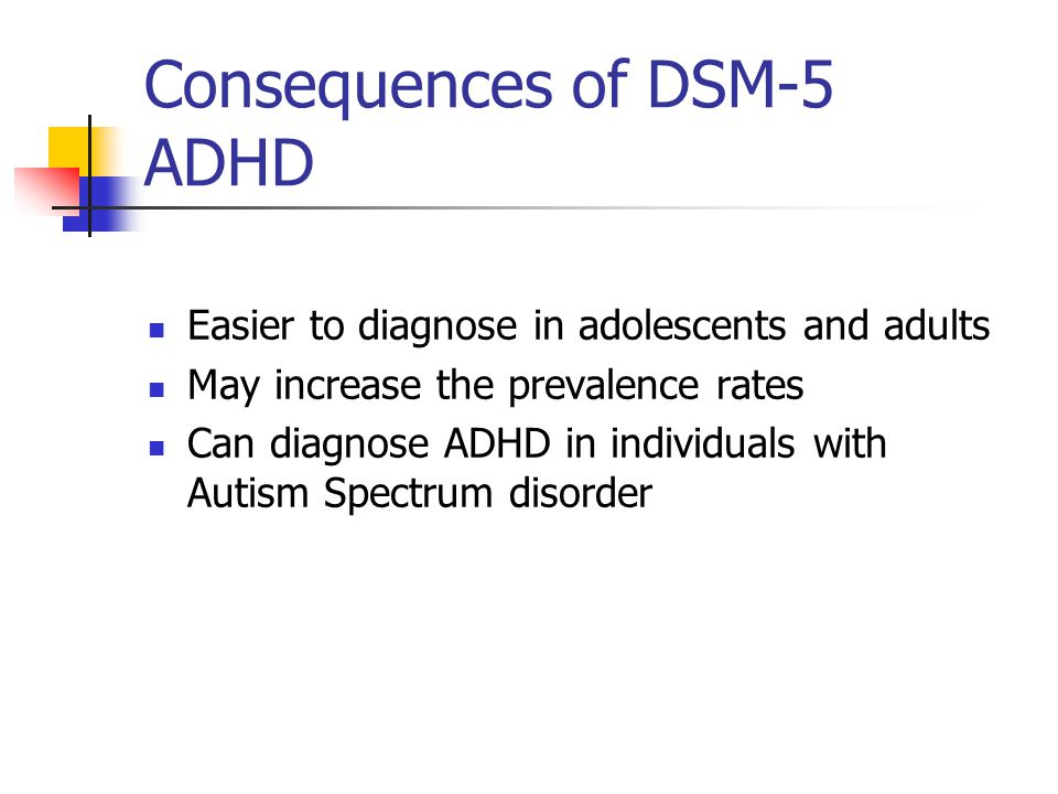 Consequences of DSM-5 ADHD