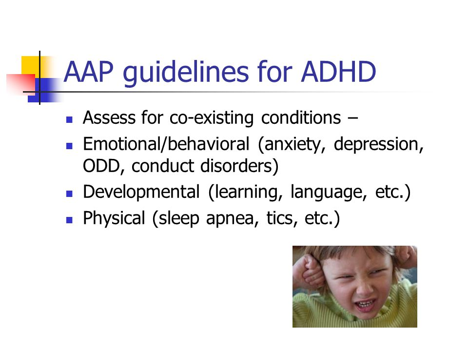 AAP guidelines for ADHD
