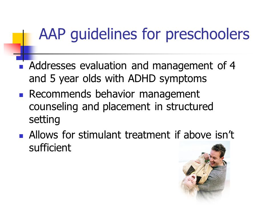 AAP guidelines for preschoolers