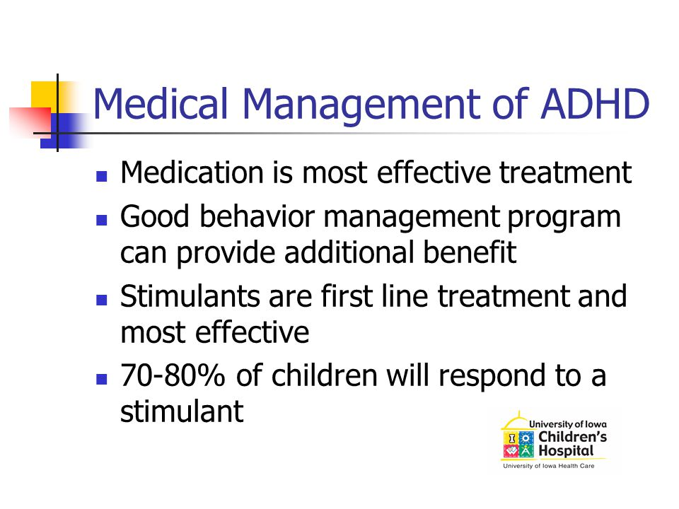 Medical Management of ADHD