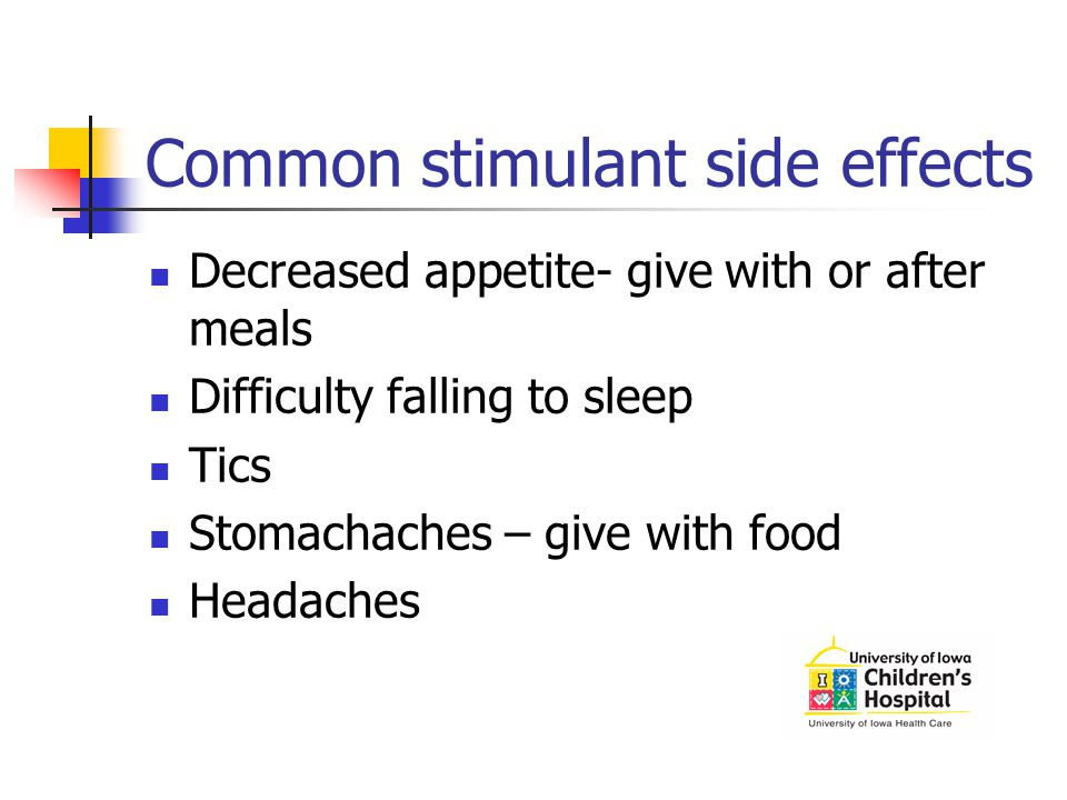 Common stimulant side effects