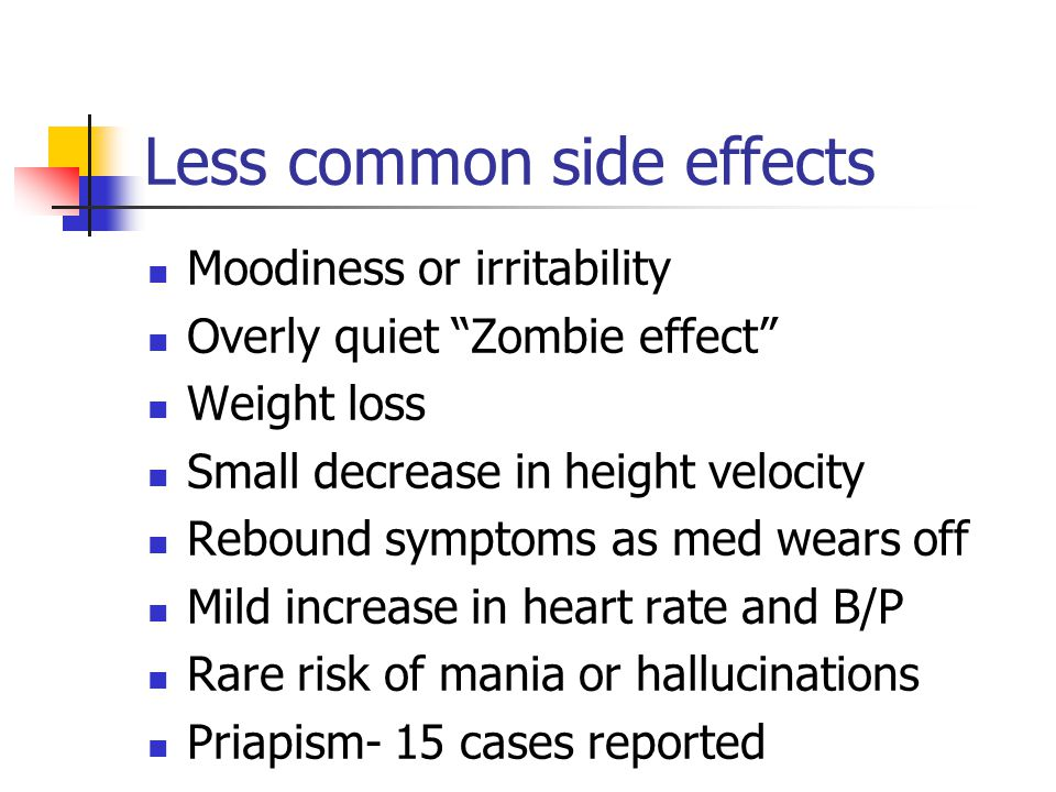Less common side effects