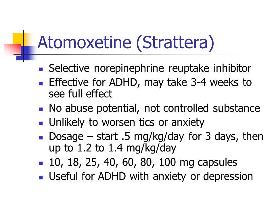 Atomoxetine (Strattera)