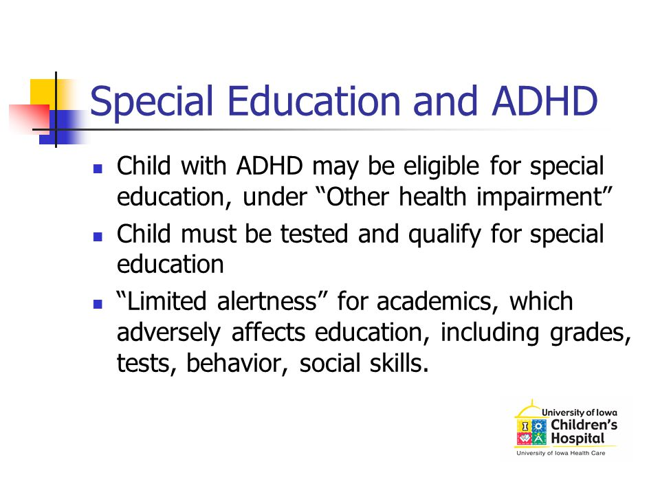 Special Education and ADHD