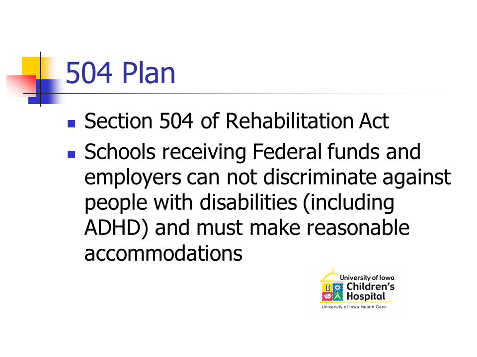 504 Plan Section 504 of Rehabilitation Act