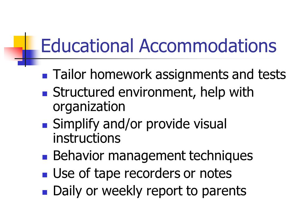 Educational Accommodations