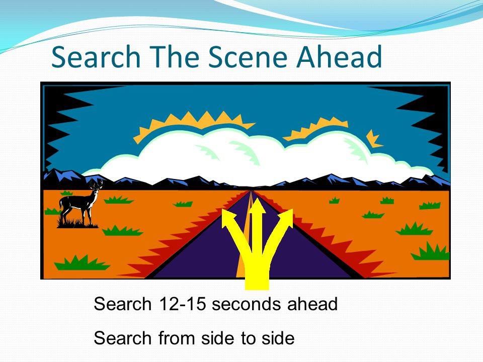 Search The Scene Ahead Search 12-15 seconds ahead