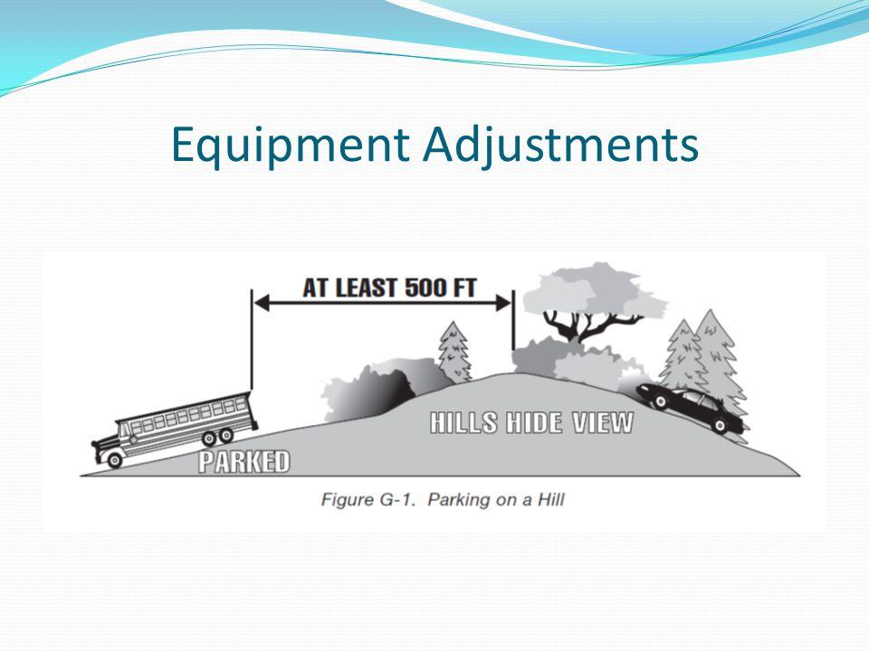 Equipment Adjustments