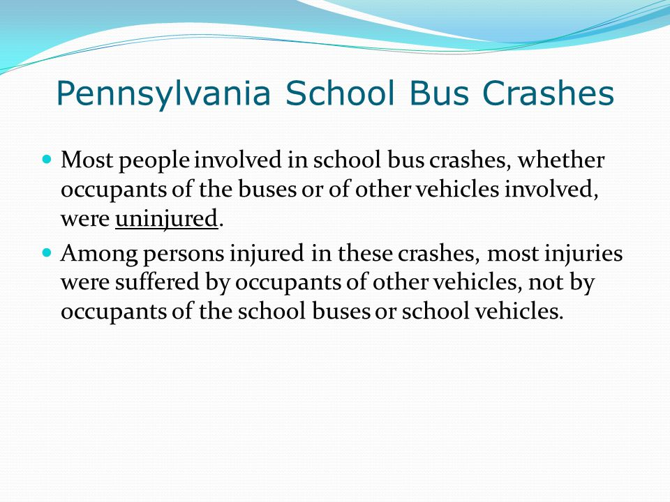 Pennsylvania School Bus Crashes