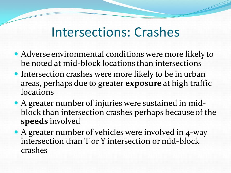 Intersections: Crashes