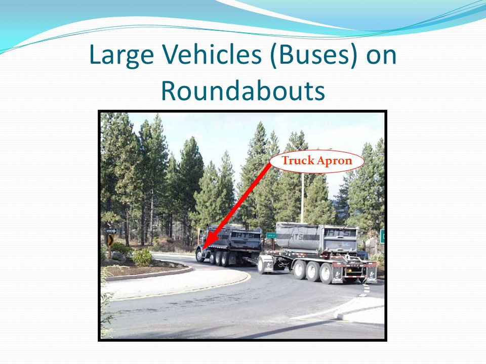 Large Vehicles (Buses) on Roundabouts