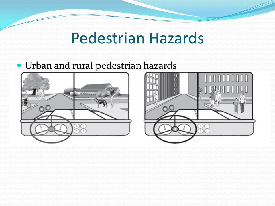 Pedestrian Hazards Urban and rural pedestrian hazards