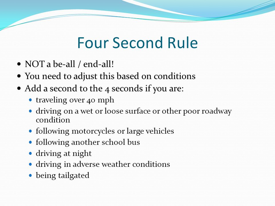 Four Second Rule NOT a be-all / end-all!