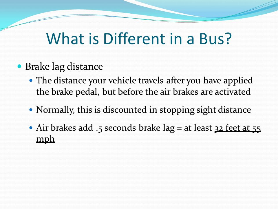 What is Different in a Bus