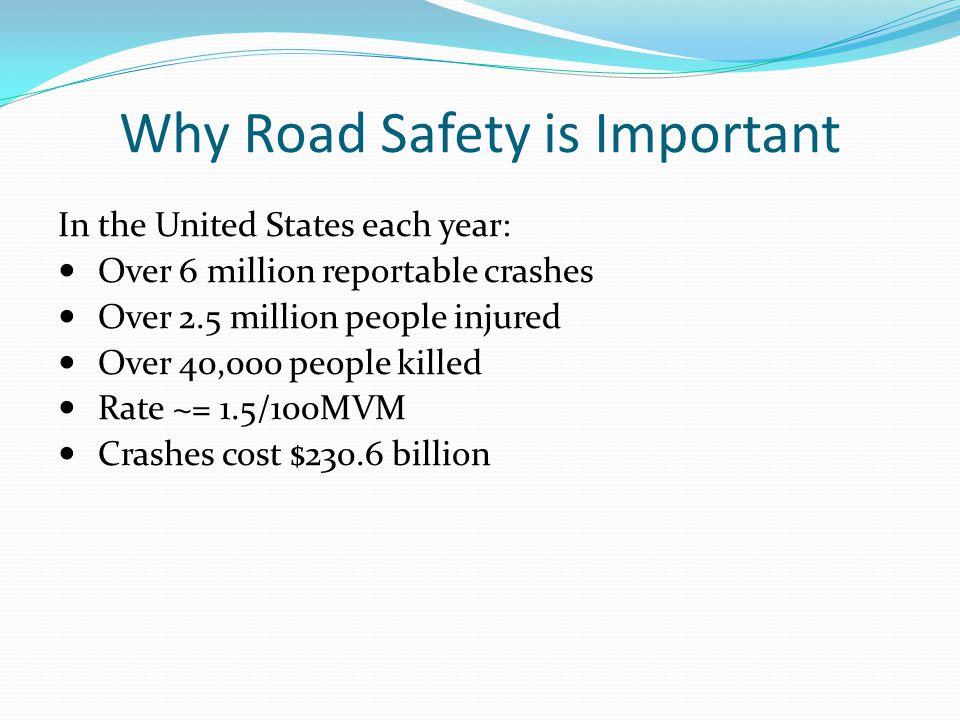 Why Road Safety is Important