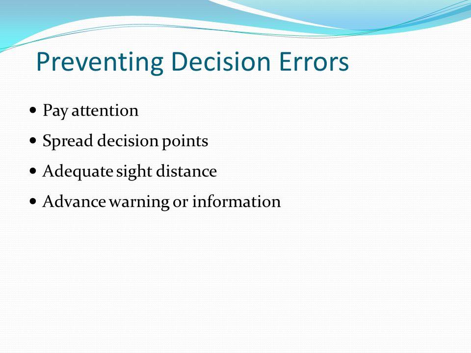 Preventing Decision Errors