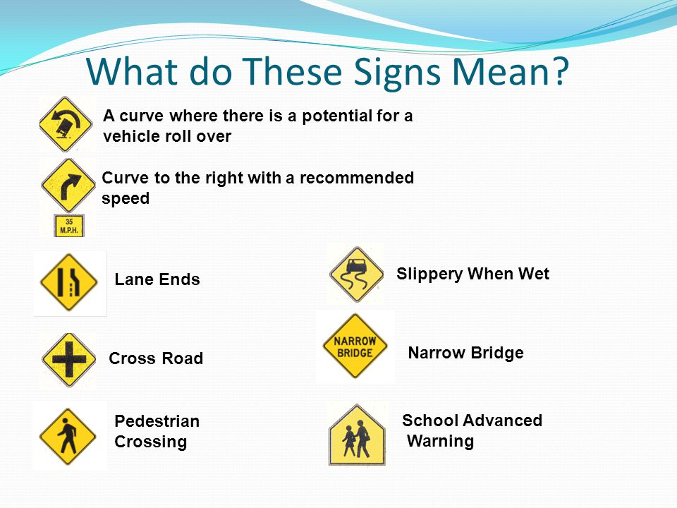 What do These Signs Mean
