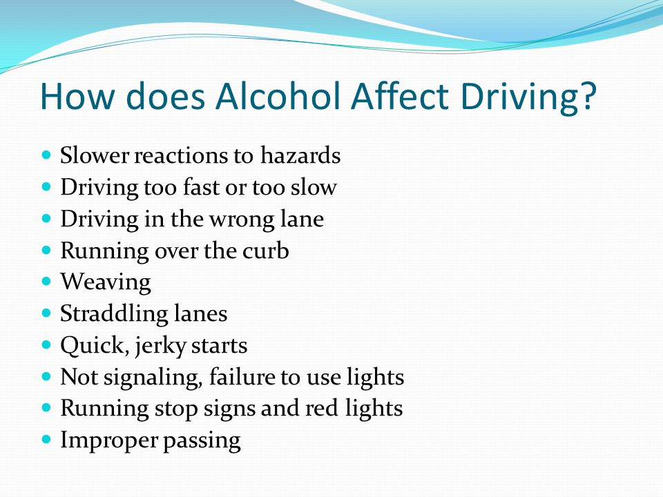 How does Alcohol Affect Driving
