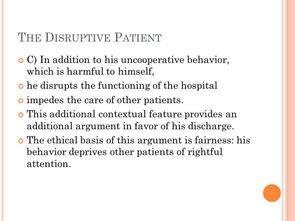 The Disruptive Patient