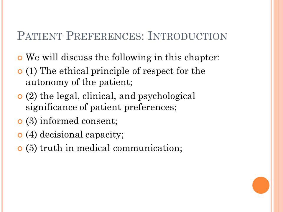Patient Preferences: Introduction