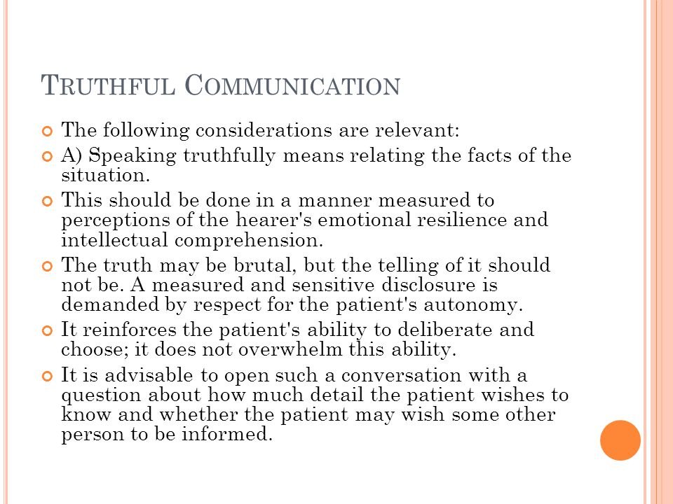 Truthful Communication