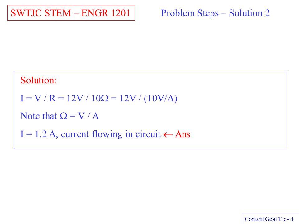 Problem Steps – Solution 2