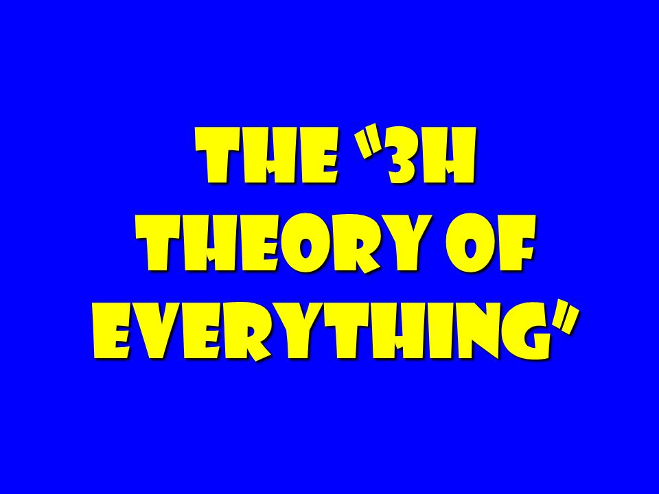The 3H Theory of Everything