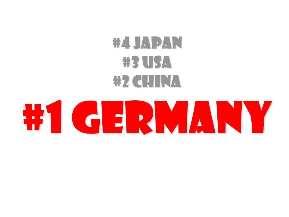 #4 Japan #3 USA #2 China #1 Germany