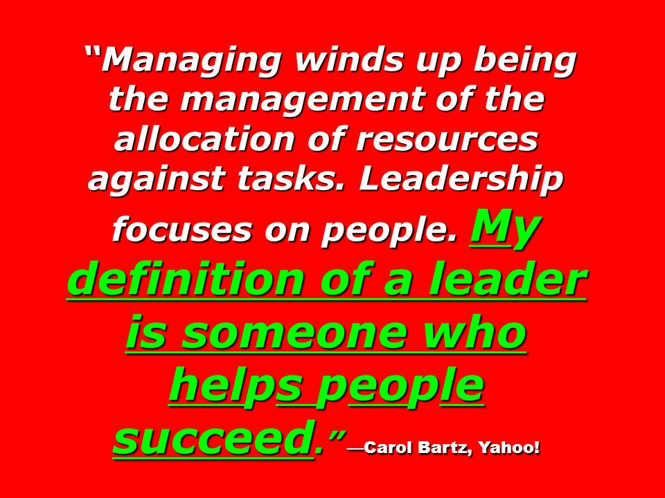Managing winds up being the management of the allocation of resources against tasks.