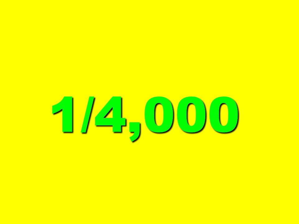 1/4,000