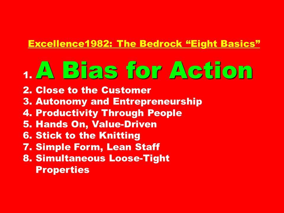 Excellence1982: The Bedrock Eight Basics