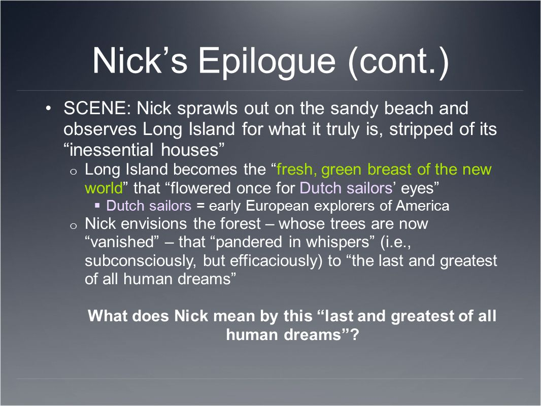 Nick's Epilogue (cont.)