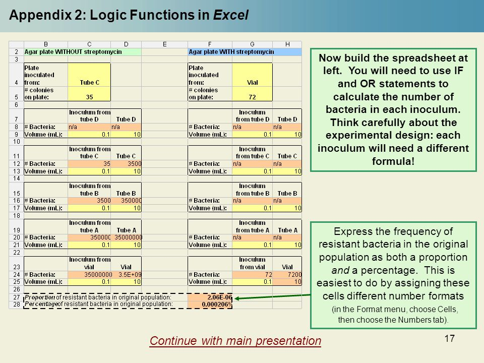 Appendix 2: Logic Functions in Excel