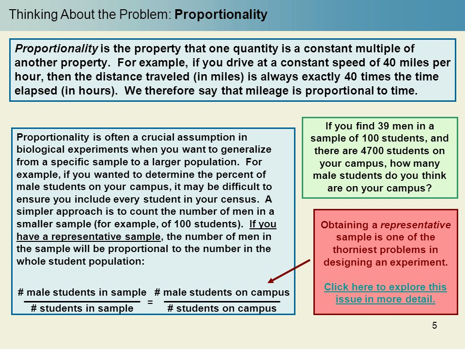 Thinking About the Problem: Proportionality