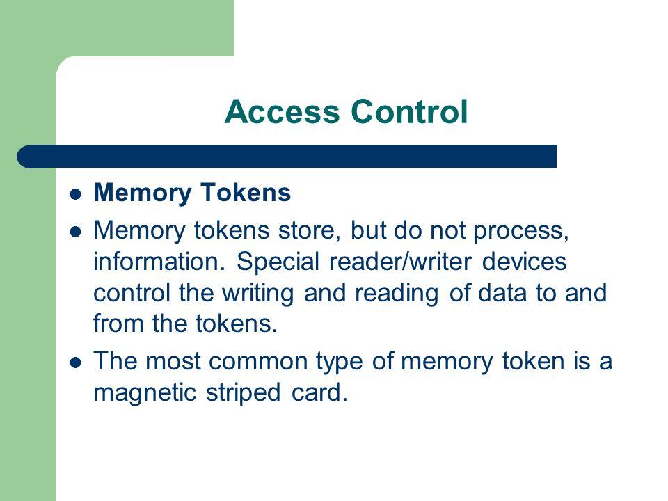 Access Control Memory Tokens