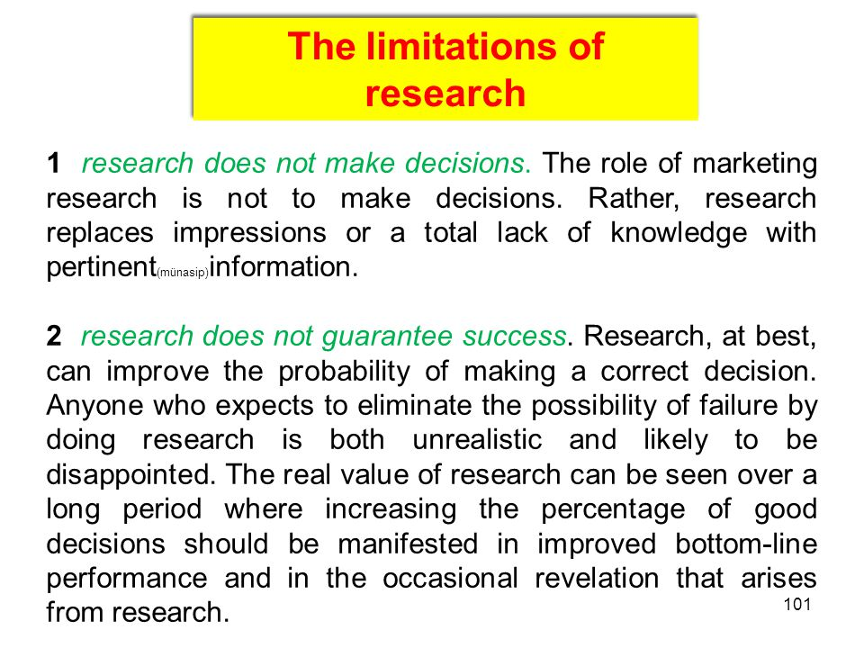 The limitations of research