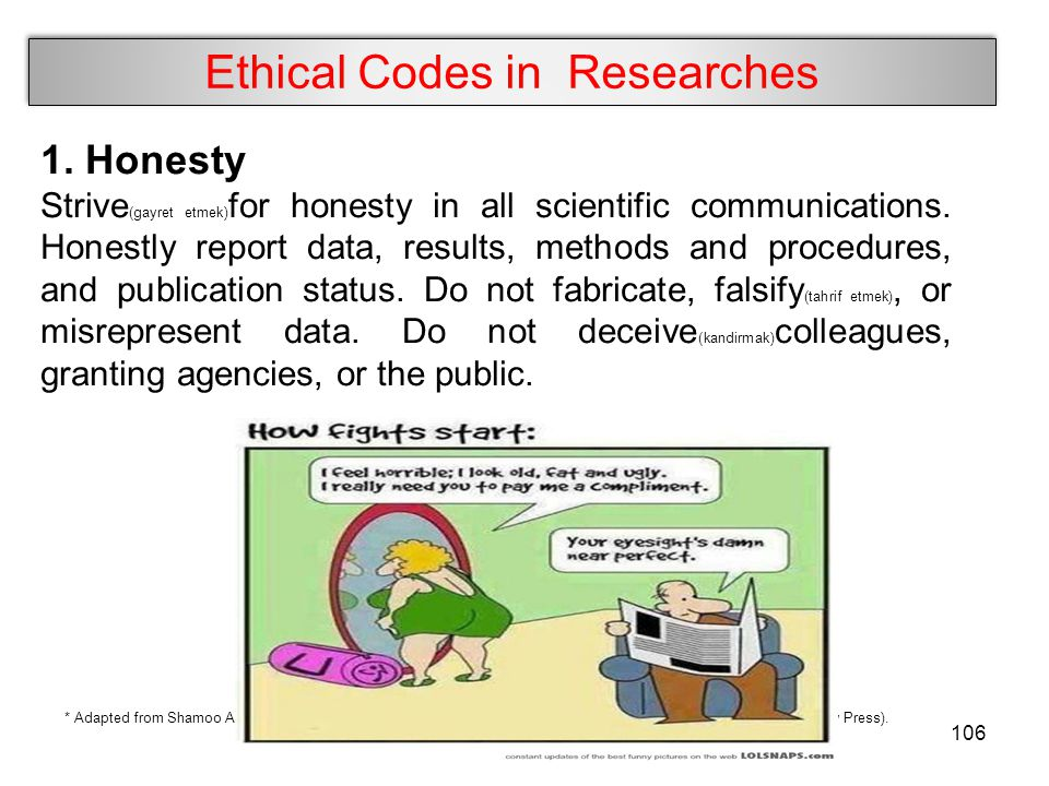 Ethical Codes in Researches