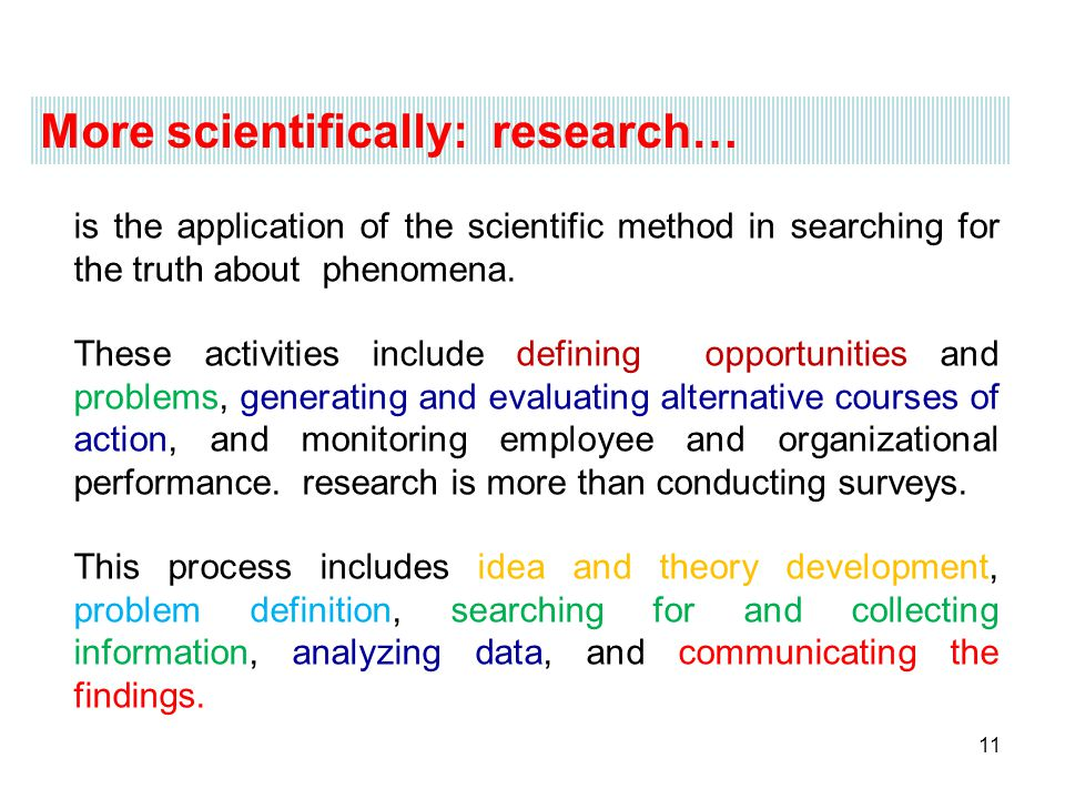 More scientifically: research…