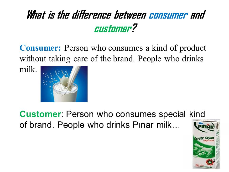 What is the difference between consumer and customer