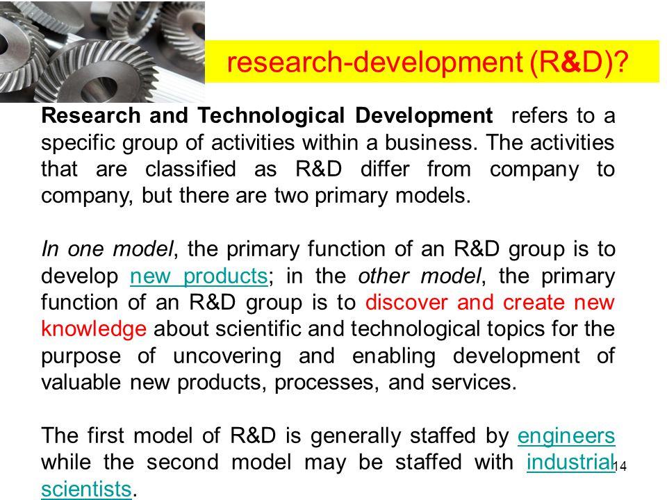 research-development (R&D)