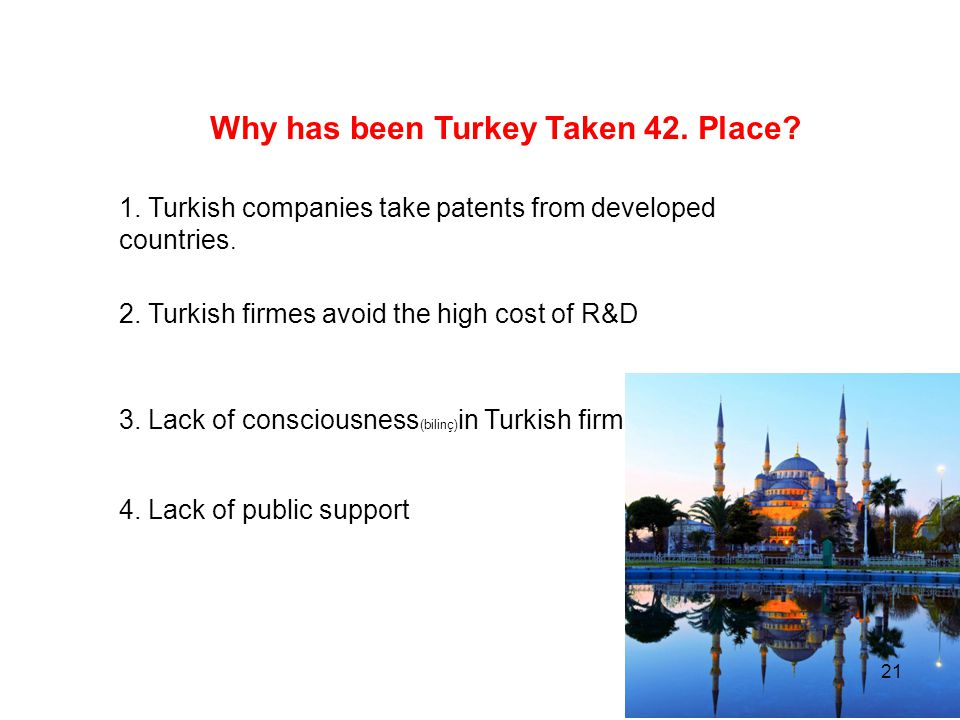 Why has been Turkey Taken 42. Place