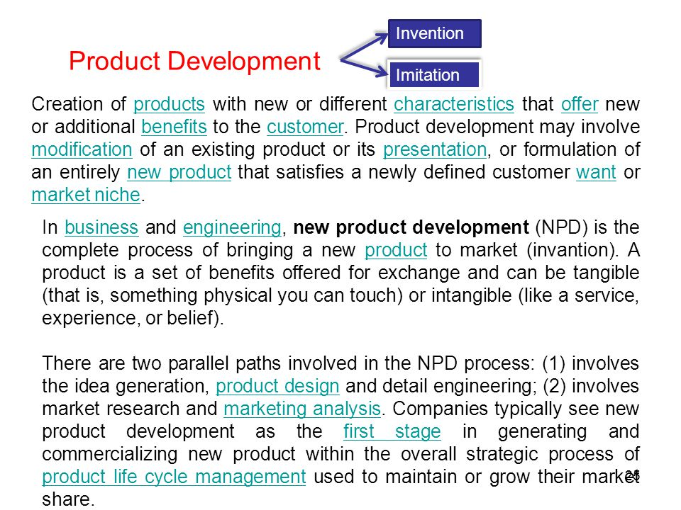 Invention Product Development. Imitation.