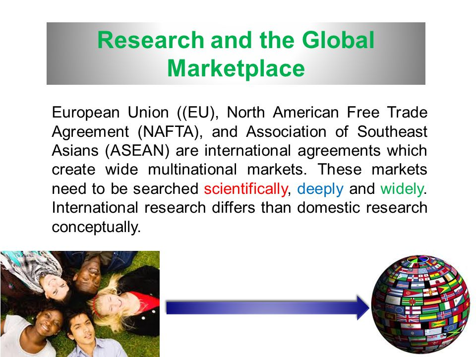 Research and the Global Marketplace
