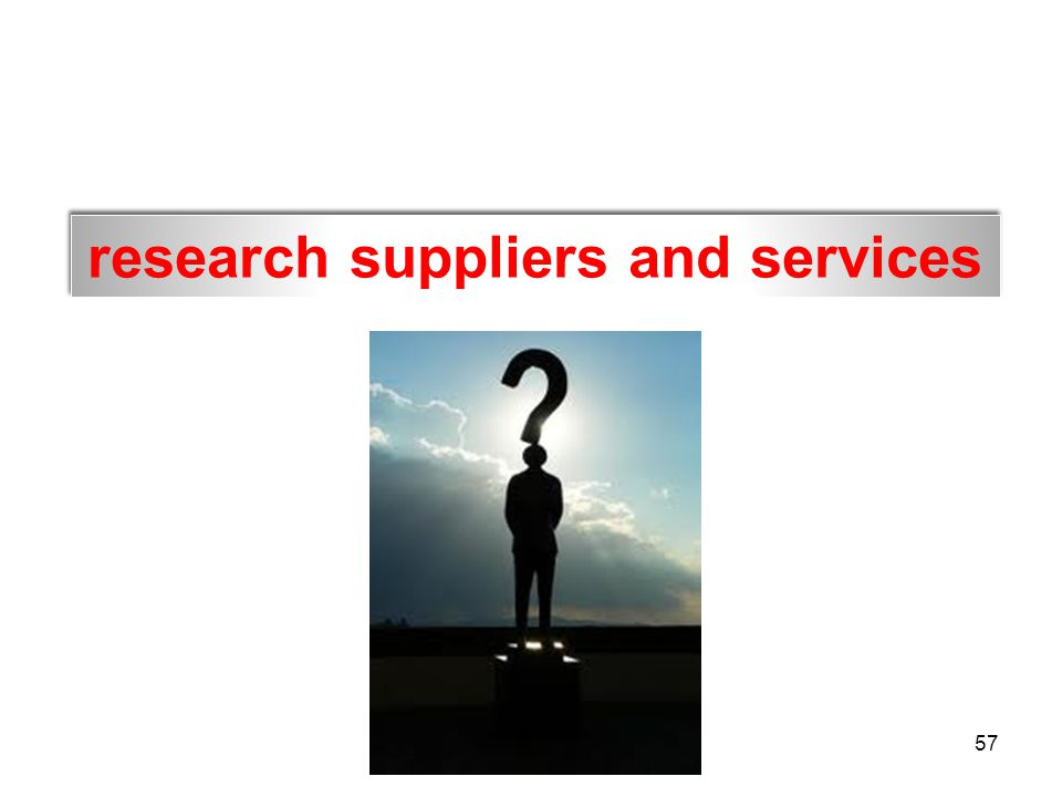 research suppliers and services