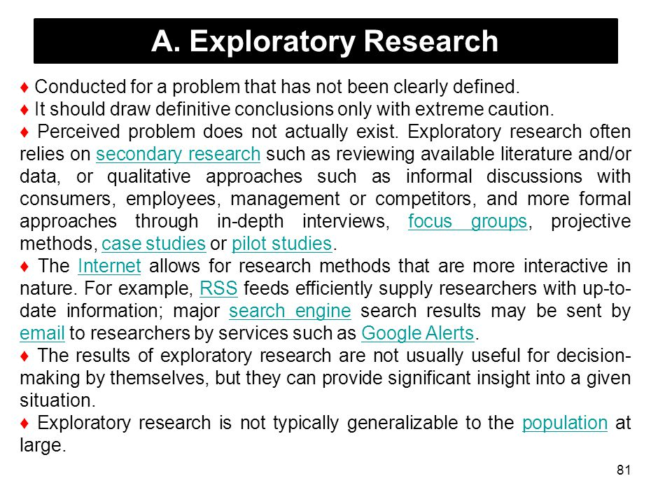 A. Exploratory Research