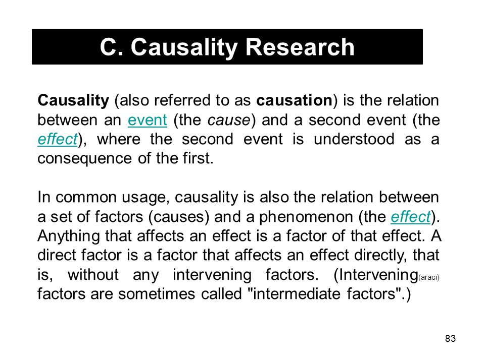 C. Causality Research